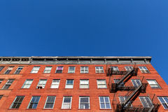 Typical New York City apartment buildings Royalty Free Stock Images
