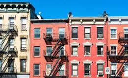 Typical New York Facades Stock Photos