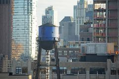 New York Water Tower, Lower Manhattan Royalty Free Stock Photography