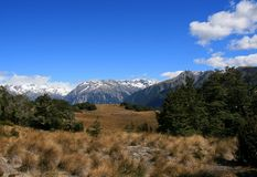 Typical New Zealand Mountainous Landscape Royalty Free Stock Photos