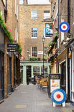 Typical Newburgh street with brick houses and pub Royalty Free Stock Photos