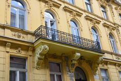 Typical nineteenth century european apartments Royalty Free Stock Photo