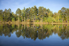 Typical northern Minnesota lake on a late September sunny aftern Royalty Free Stock Photos