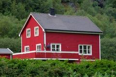 Typical Norwegian house. Lysebotn, Norway Royalty Free Stock Image