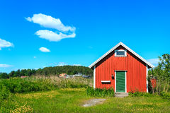 Typical Norwegian house Stock Photo