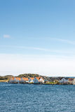 Typical Norwegian houses on the Vikaholmane island Stock Photography
