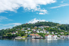 Typical Norwegian village Stock Photos