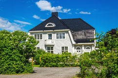 Typical Norwegian wooden house Norway Stock Photos