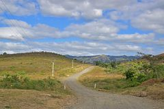 Typical off unsealed road countryside scenery in North of Fijian island of Viti Levu, Fiji Stock Photos