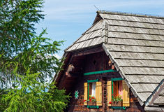 A typical old alpine hut in Austria Royalty Free Stock Photo