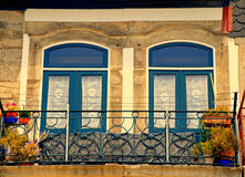 Typical old balcony, Porto, Portugal Royalty Free Stock Photo