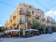 Typical old building in Yafo Street, Jerusalem Stock Image