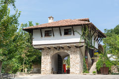 Typical old Bulgarian architecture, Balchik Stock Photo