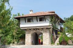 Typical old Bulgarian architecture, Balchik Stock Photo