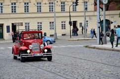 Typical tourist car in Prague Royalty Free Stock Photos
