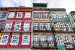 The typical old colorful buildings of the city of Porto in Portugal Royalty Free Stock Images