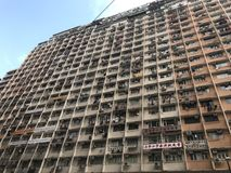 Typical old and congested building in Hong Kong. It is located in North Point, an old district in Hong Kong Royalty Free Stock Photo