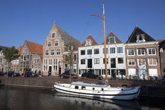 Typical old Dutch houses. Stock Images