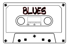 Blues Music Tape Cassette Royalty Free Stock Photography