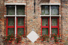 Typical old Flemish Window Royalty Free Stock Image