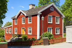 Typical old house in skansen garden. Beautiful and tyical old house in skansen garden Stock Image