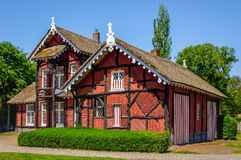 Typical old house with a thatched roof in the Netherlands Stock Photography