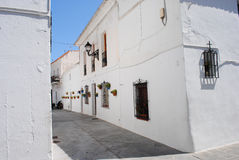Typical old house in the town of Mijas. Andalusia. Spain. Stock Photo