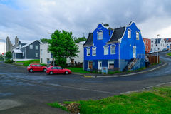 Typical old houses, in Akureyri Royalty Free Stock Photos
