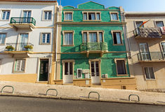 Typical old houses in Nazare Stock Image