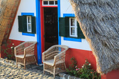 Typical old houses on Santana, Madeira island, Portugal Royalty Free Stock Image