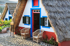 Typical old houses on Santana, Madeira island, Portugal Royalty Free Stock Images