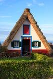 Typical old houses on Santana, Madeira island, Portugal Stock Photography