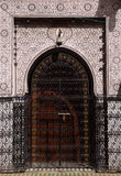 Typical, old, Intricate Moroccan door Stock Photos