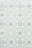 Typical old Lisbon tiles. Detail of a classic ceramic tiles, art of Portugal Stock Photo