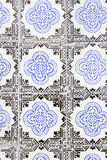 Typical old Lisbon tiles. Detail of a classic ceramic tiles, art of Portugal royalty free stock image
