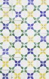 Typical old Lisbon tiles. Detail of a classic ceramic tiles, art of Portugal stock images