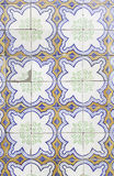 Typical old Lisbon tiles. Detail of a classic ceramic tiles, art of Portugal stock image