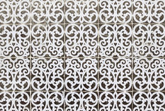 Typical old Lisbon tiles. Detail of a classic ceramic tiles, art of Portugal royalty free stock photography