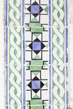 Typical old Lisbon tiles. Detail of a classic ceramic tiles, art of Portugal stock photos