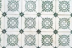 Typical old Lisbon tiles, detail of a classic ceramic tiles . Typical old Lisbon tiles, detail of a classic ceramic tiles stock photography
