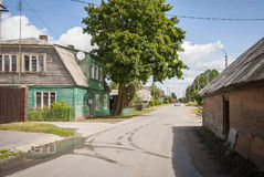 Typical old lithuanian house Stock Images