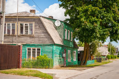 Typical old lithuanian house Royalty Free Stock Photo