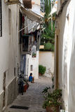 Typical old Mediterranean alley between old houses Royalty Free Stock Photography