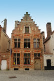 Typical old merchant's house in Bruges. 17th century townhouse in Bruges, Belgium Royalty Free Stock Image