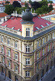 Typical old Prague building from above Stock Photography