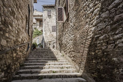 Typical old staircase in Italy Royalty Free Stock Photos