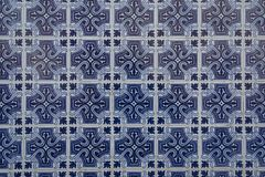 Typical old tiles background from Portogal. Building in Portougal are often decorated by old ceramic tiles texture stock photo