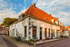 Typical old town houses in Elburg The Netherlands Stock Images