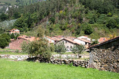 Typical old village Cantabria, Spain Royalty Free Stock Image