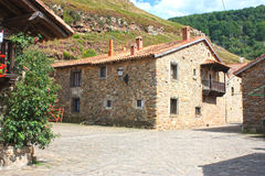 Typical old village Cantabria, Spain Stock Photos